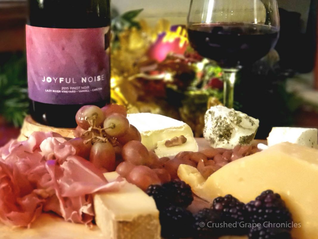 Joyful Noise 2015 Pinot Noir with Cheese Plate