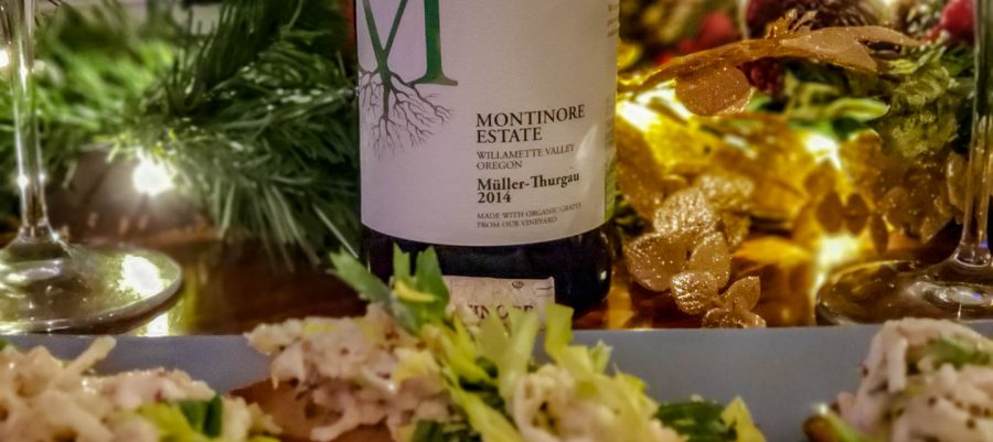 Montinore 2014 Muller Thurgau As we celebrate the Holidays in 2018.  We thought we would create a Holiday Wine list from our top picks for 2018. What would make a great Christmas or Holiday Wine list? What wines to drink during the Holidays? What wine and food pairings for the holidays?  We thought we would pay tribute to some of the great wines we discovered on our travels this year.  We created a Holiday wine list to pair with a recipe suggested by the wine maker.