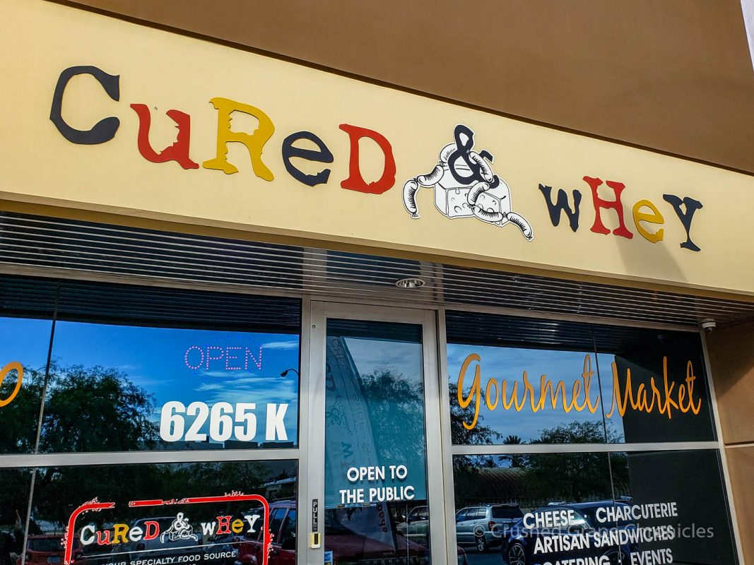 Cured & Whey Gourmet Market and sandwich shop storefront