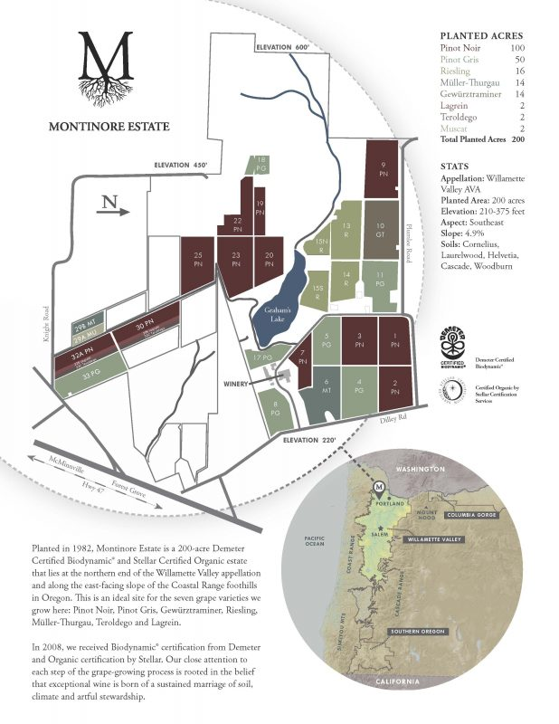 Montinore Estate Vineyard Map1
