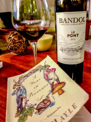 Bandol Le Pont 2015 and a book