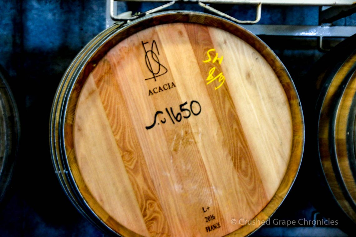 Illahe Vineyard Tasting room, Acacia Barrels