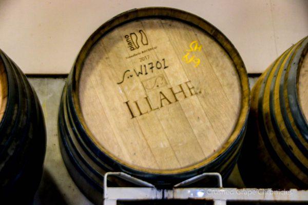 Illahe Vineyard Tasting room, Barrels