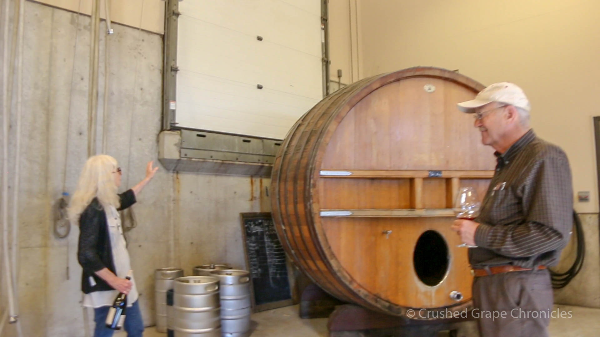 Barrel Illahe for Pinot Gris with Kathy and Lowell