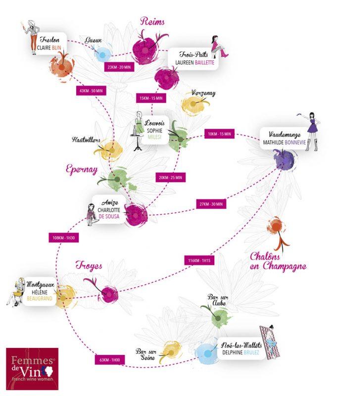 Femmes de Vin Map of Les Fa'Bulleuses