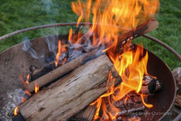 A fire to keep us warm as the sun set