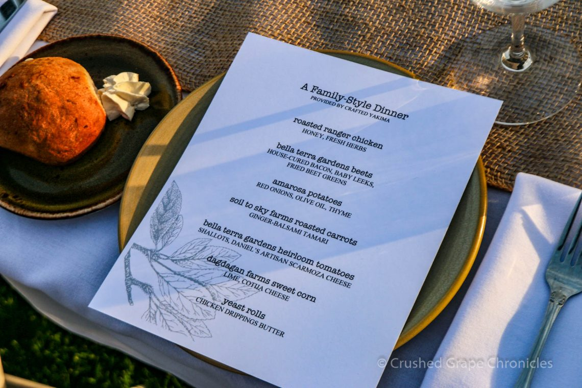 The Family Style Dinner Menu by Crafted Yakima