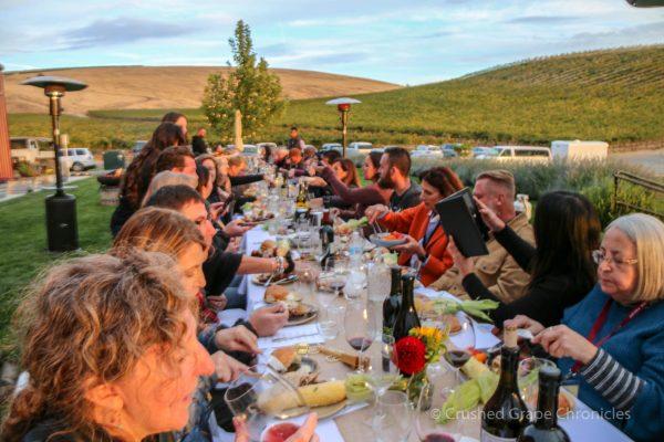 Dinner in Yakima Valley at Owen Roe Vineyards