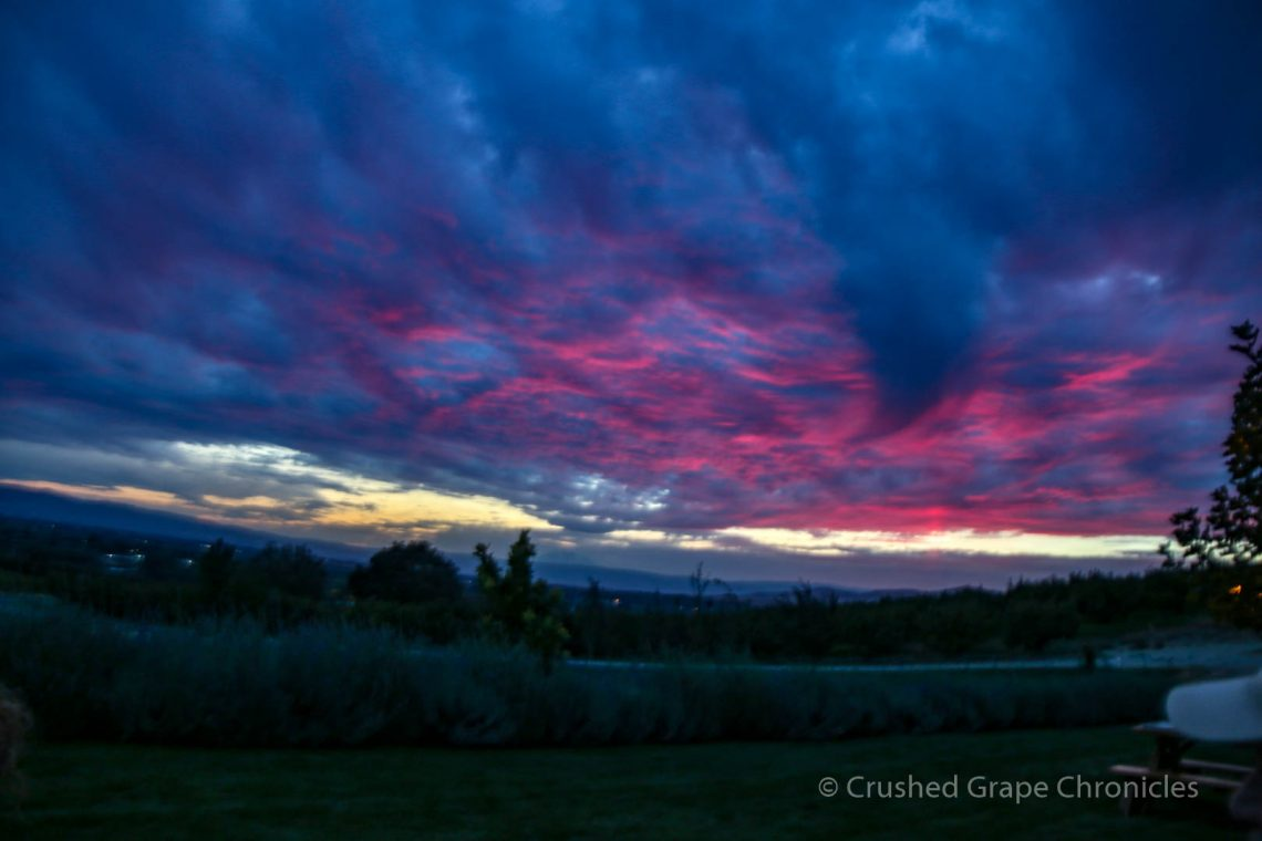 Purple and Magenta skies as the sun wanes in Yakima Valley