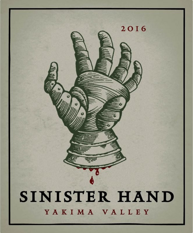 Sinister Hand Label from Owen Roe Winery (courtesy of Owen Roe WInery)