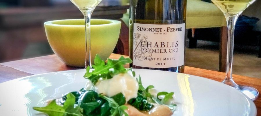 Chablis Premier Cru Mont de Milieu Simonnet-Febvre 2013 and Pôchouse