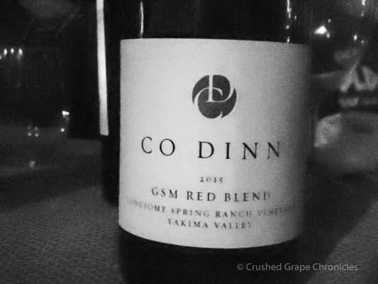 Co Dinn cellars bottle, Yakima Valley Washington