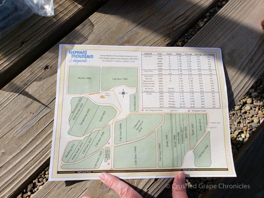 Elephant Mountain Vineyard map