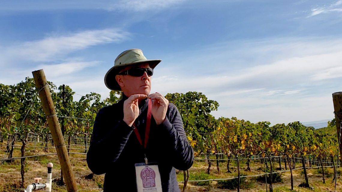 David O'Reilly with Owen Roe Vineyard explained that we are about as far West in the Yakima Valley as you can go.