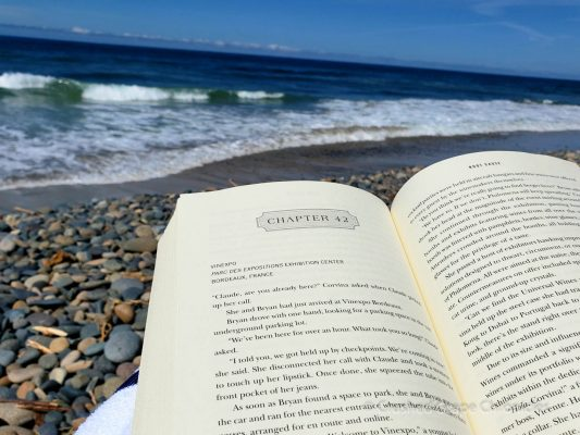 Reading Steven Laine's Root Cause by the beach.