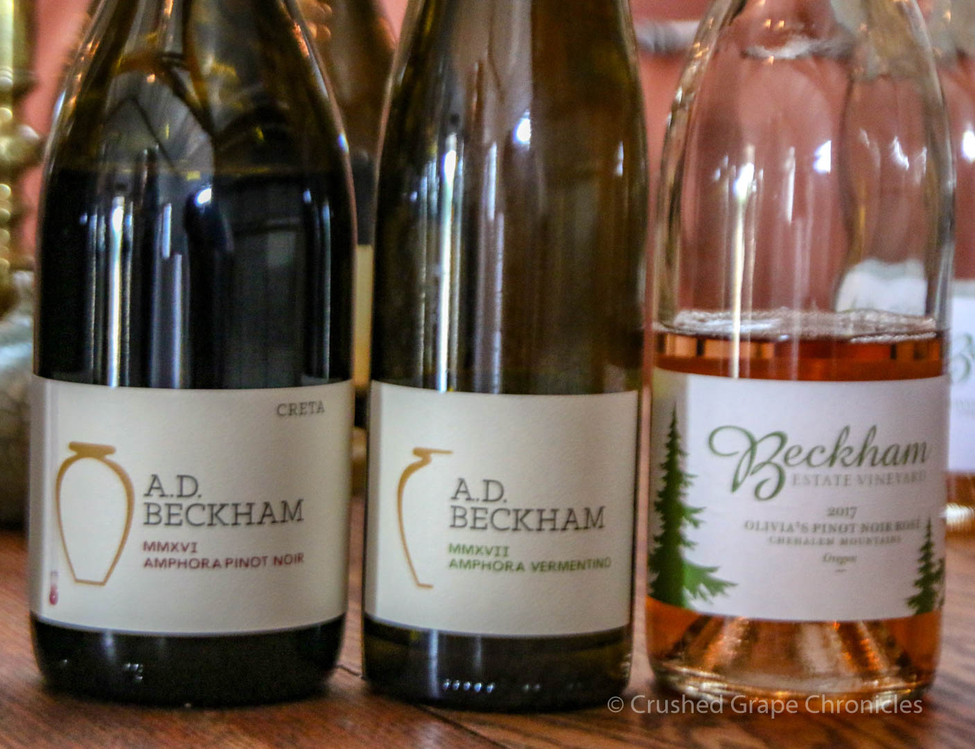 Tasting in the Beckham Winery