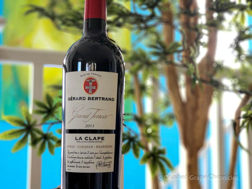 Gérard Bertrand Grand Terroir La Clape 2015 bottle shot Languedoc