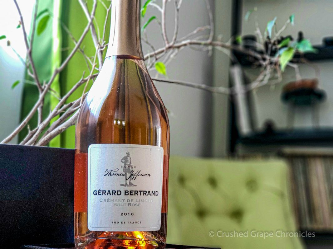 Gérard Bertrand Cuvee Thomas Jefferson Cremant de Limoux Brut Rose 2016 Bottle shot