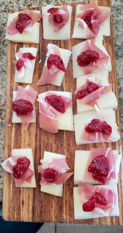 Asiago Proscuitto and raspberry jam