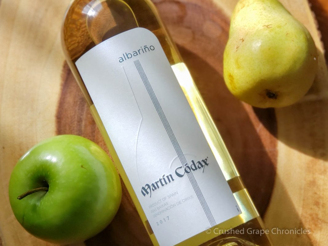 Martin Codáx 2016 Albarino from Rias Baixas Spain with pear and green apple