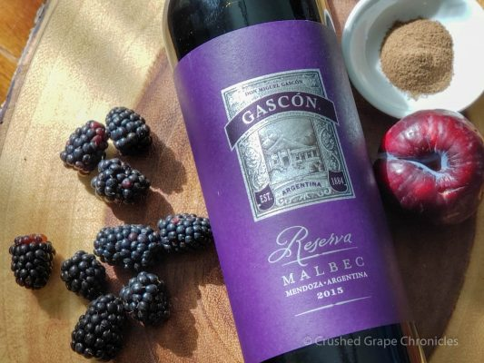 Gascón 2015 Reserva Malbec from Argentina with blackberries, plum and spice