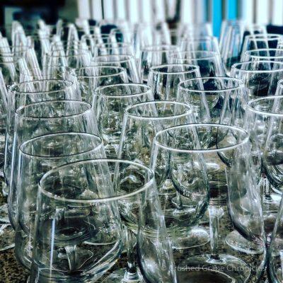 85 dirty wine glasses