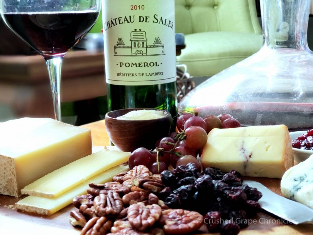 Chàteau de Sales Pomerol 2010 with Cheese