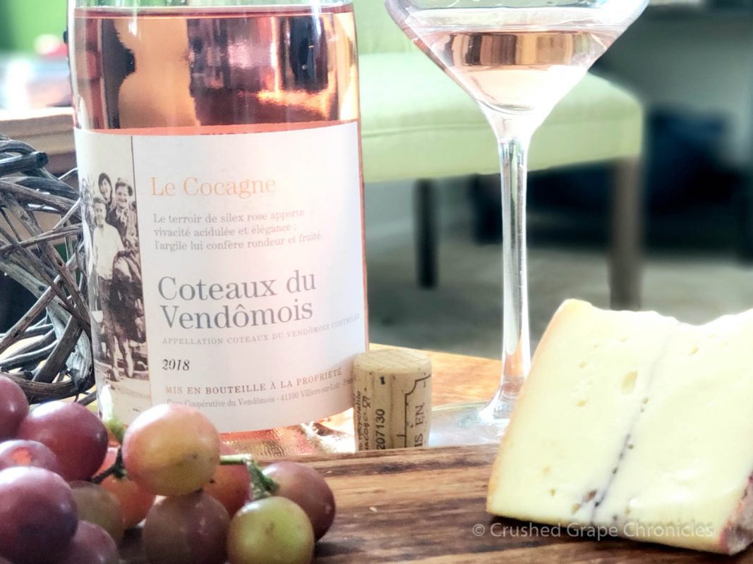 Rosé of Pineau d'Aunis from the Coteaux du Vendômois with Cheese!