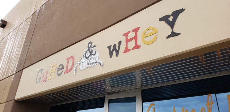 Cured & Whey sign