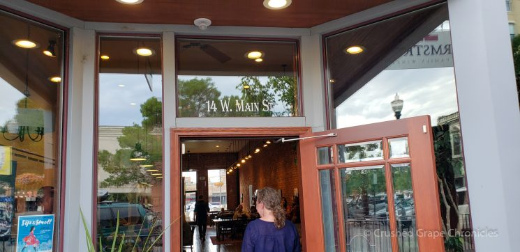 Armstrong tasting room door in Walla Walla Washington