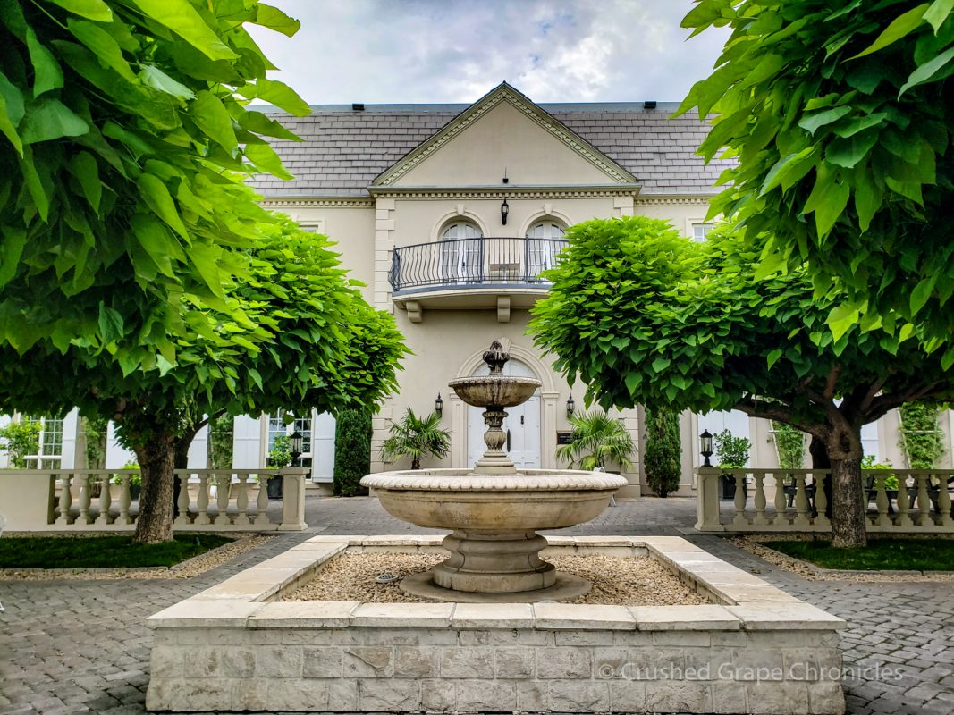 Hedges Family Estate the garden with the fountain Red Mountain Yakima Valley Washington