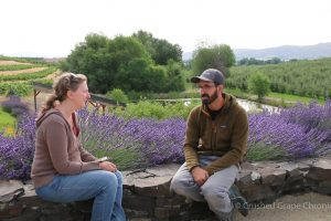 Justin of JB Neufeld at Gilbert Cellars in Washington's Yakima Valley AVA