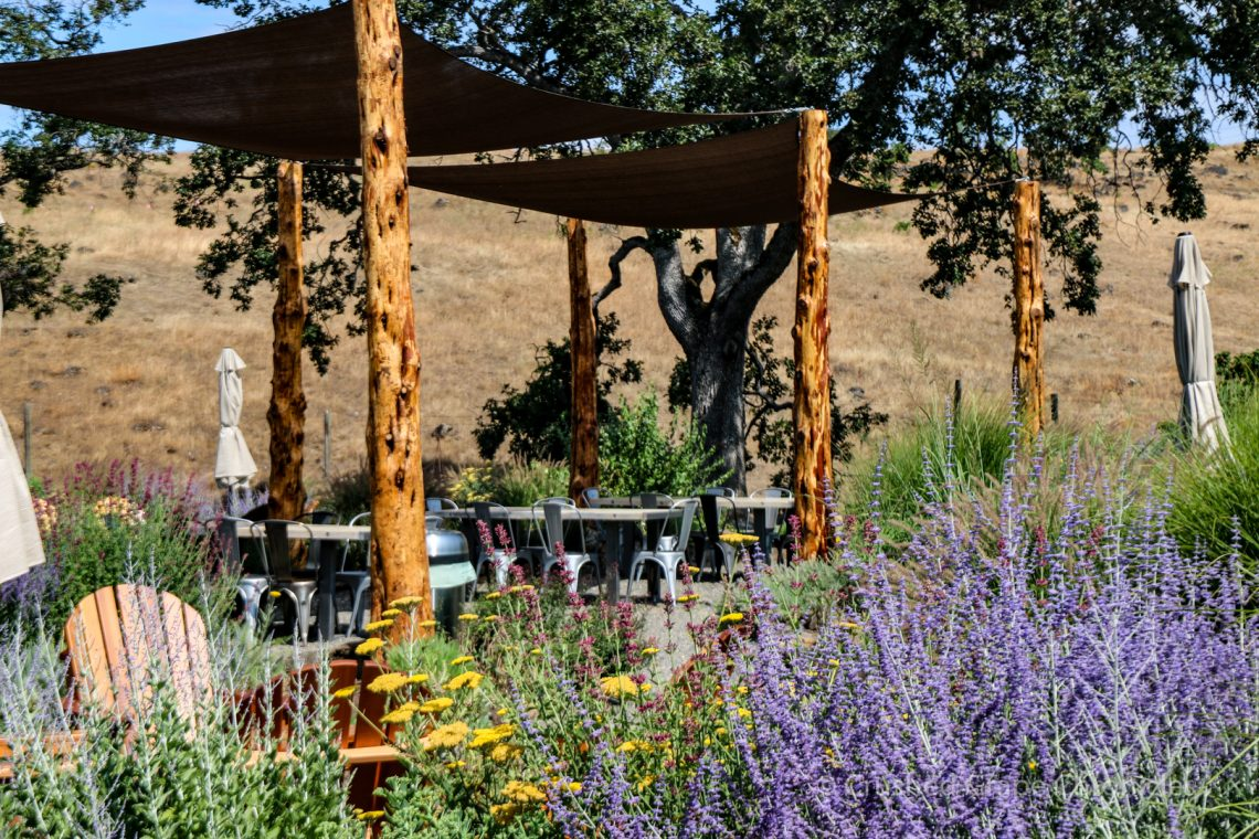 The patio at Syncline Winery