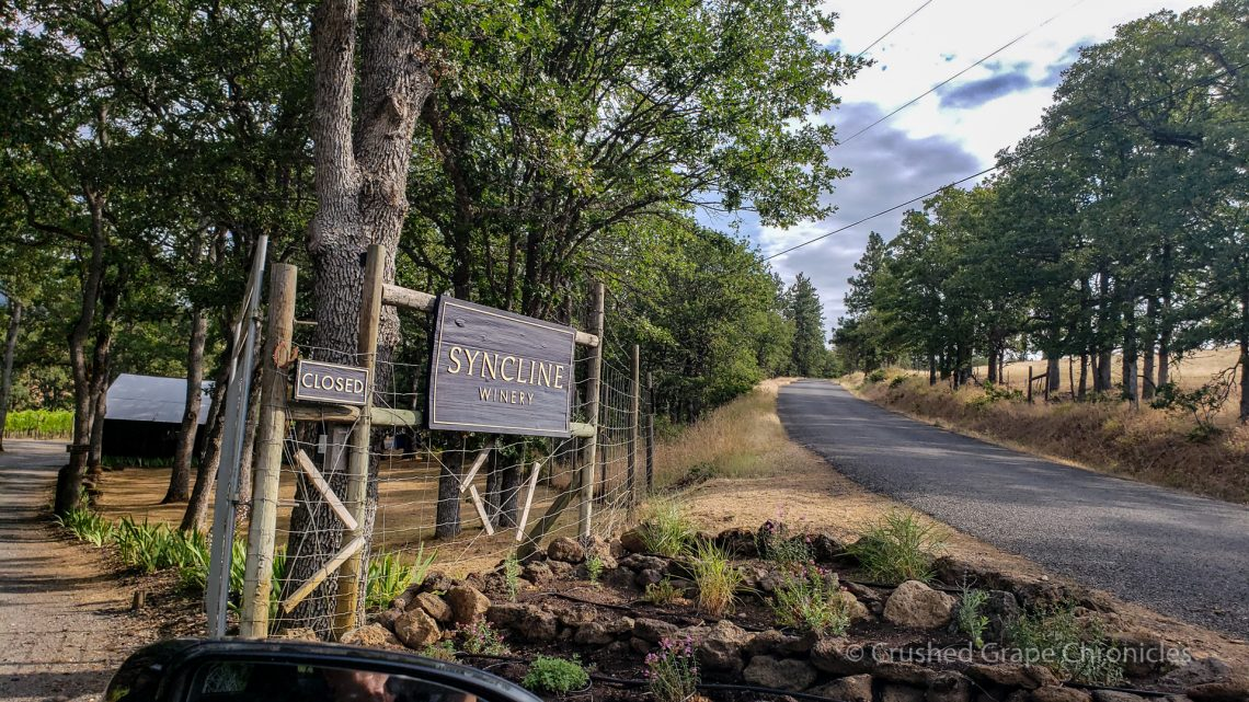 Entrance to Syncline Winery in Washington's Columbia Gorge AVA