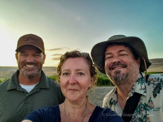 Jonathan Sauer, myself & Michael at Red Willow Vineayard