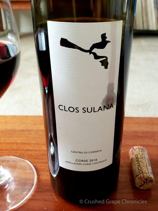 Clos Sulana Red wine of Corsica 2016
