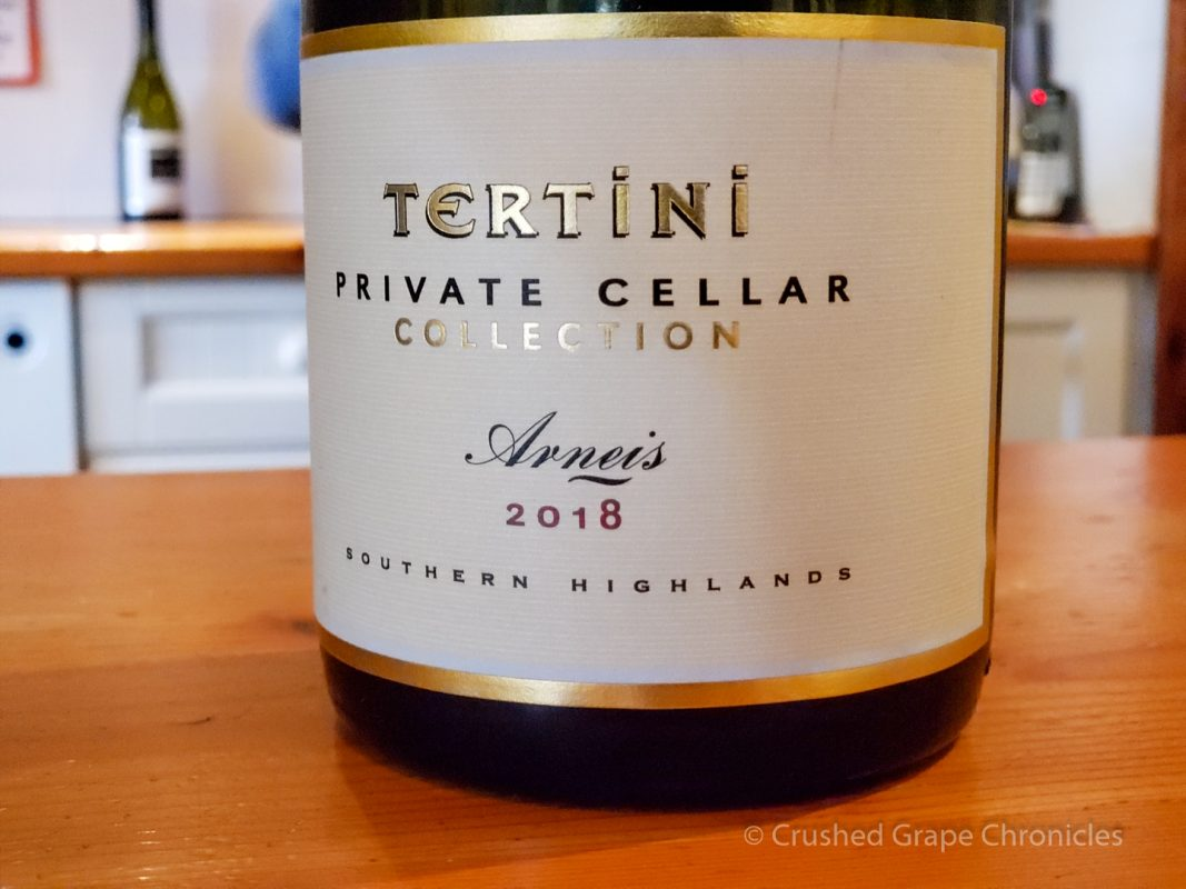 Tertini Wines 2018 Private Cellar Arneis, Southern Highlands Australia