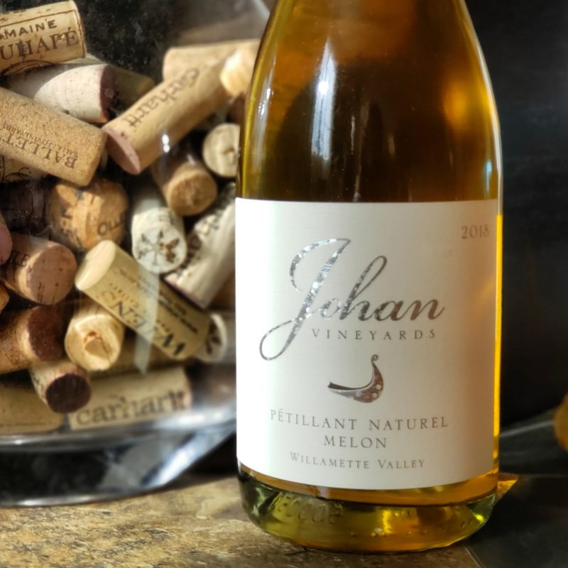 Johan Vineyards 2018 Melon Pét Nat from Oregon's Van Duzer Corridor