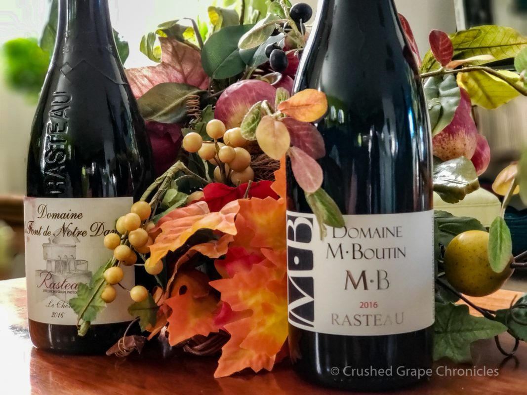 2016 Rasteau wines from Domaine M. Boutin and Domaine La Fond de Notre Dame