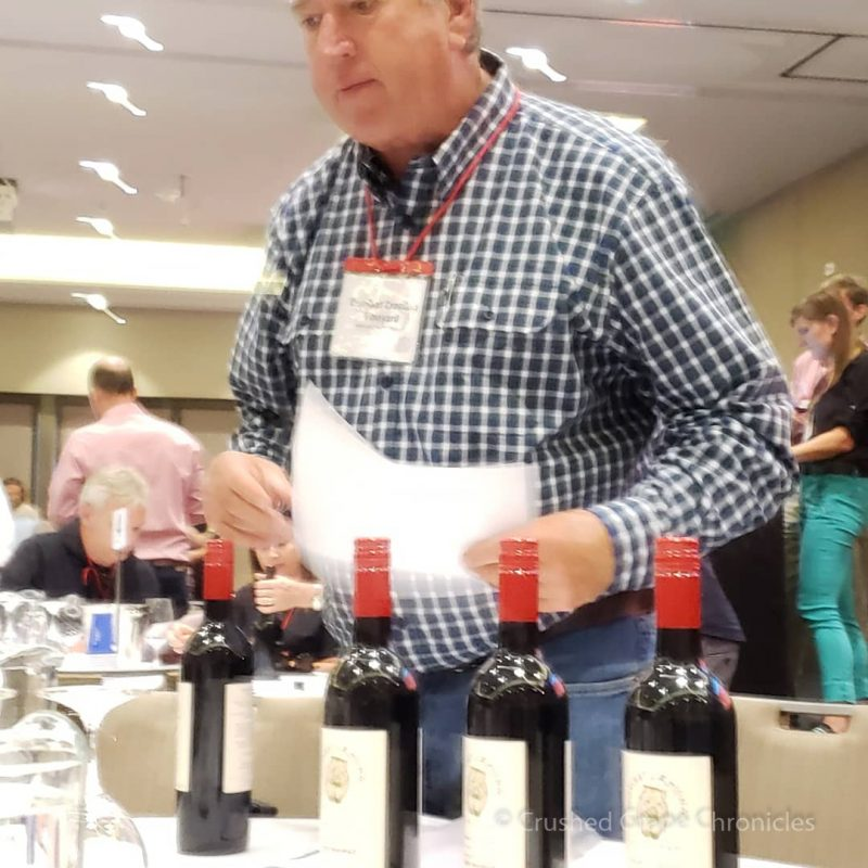 Ian Owner of Wombat Crossing pouring the 2009 Shiraz Red Wine Social
