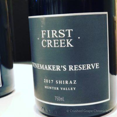 First Creek Winemaker's Reserve 2017 Shiraz Hunter Valley Red Wine Social