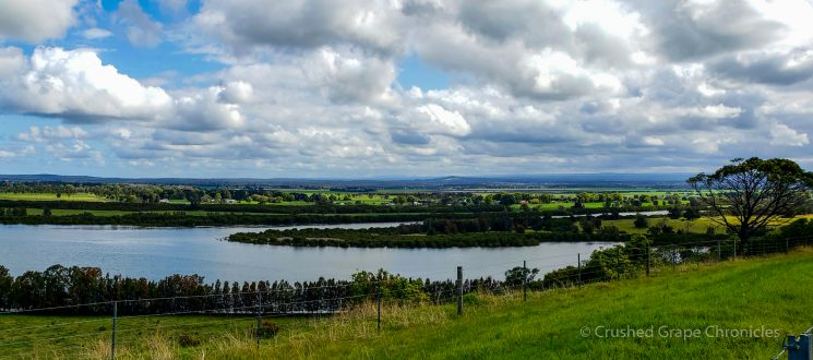 View of the Shoalhaven River from Two Figs Winery Shoalhaven Coast New South Wales Australia