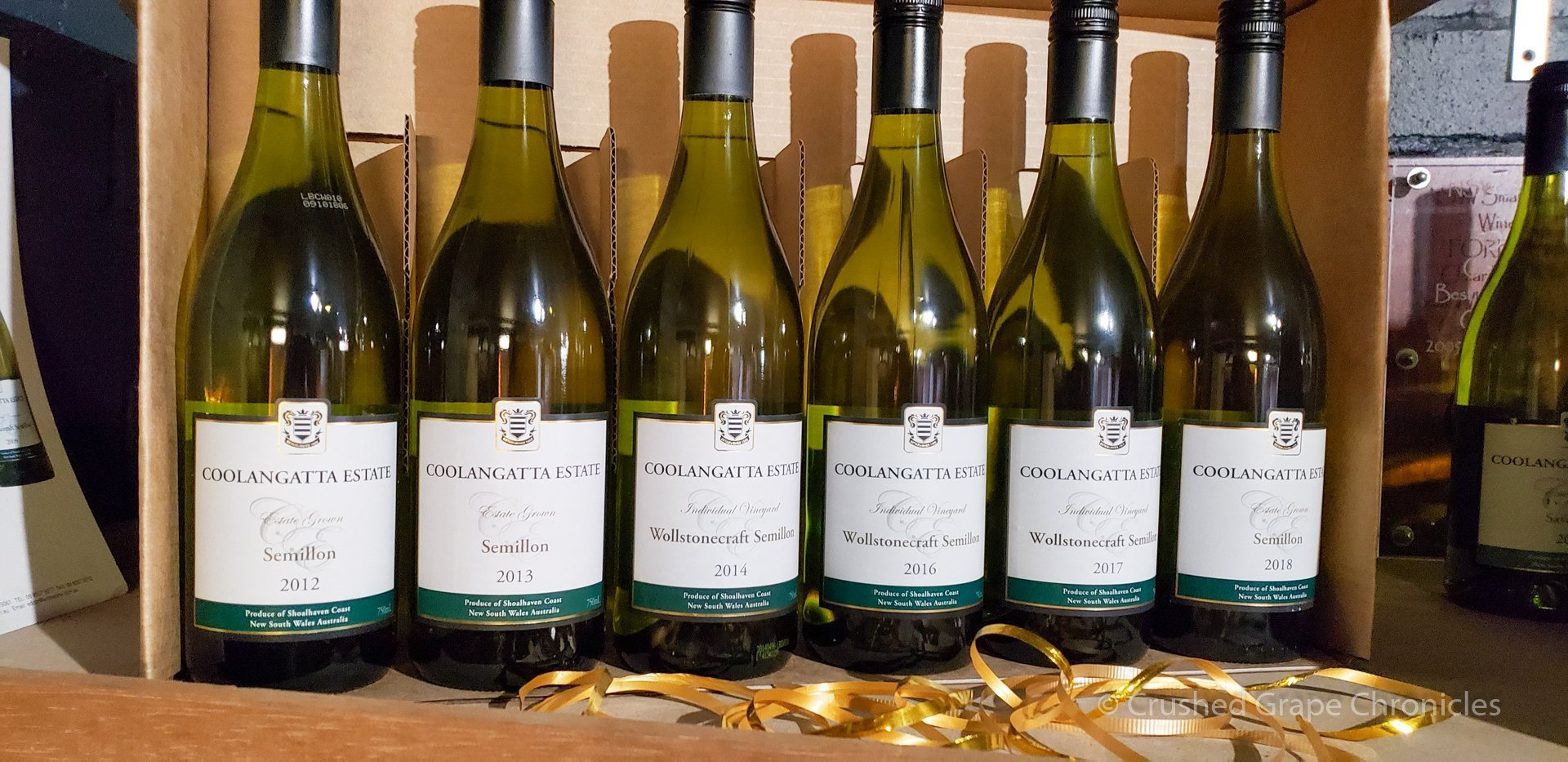 White wines at Coolangatta Estate New South Wales Australia