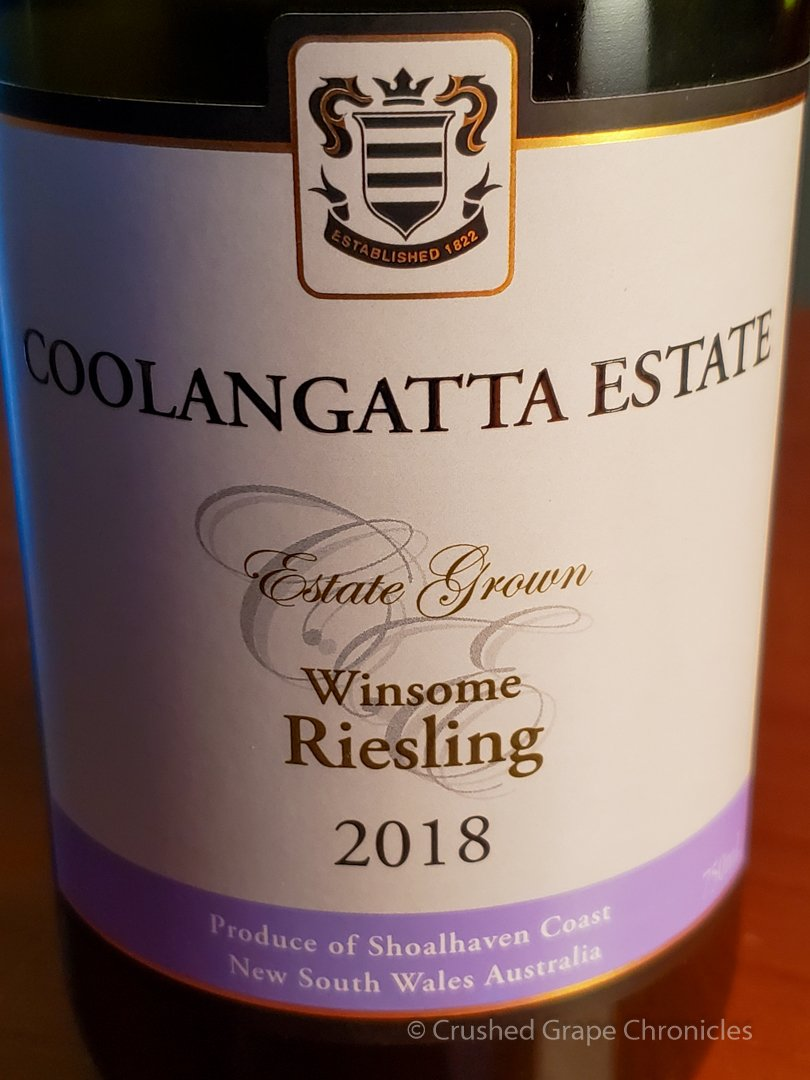 The 2018 Winsome Riesling just won the Canberra International Riesling Challenge, Scoring 95 points Shoalhaven Coast New South Wales Australia