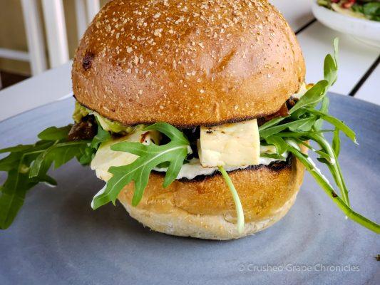 Veggie sandwich at The Hill Gerrigong NSW Australia