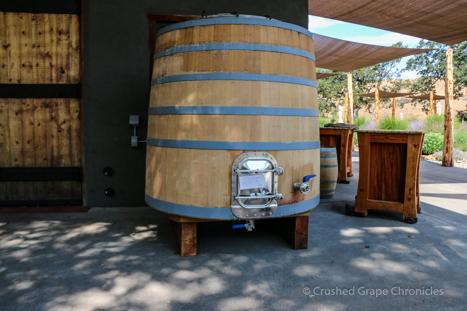 Beautiful Foudre that was being refinished for wine at Syncline