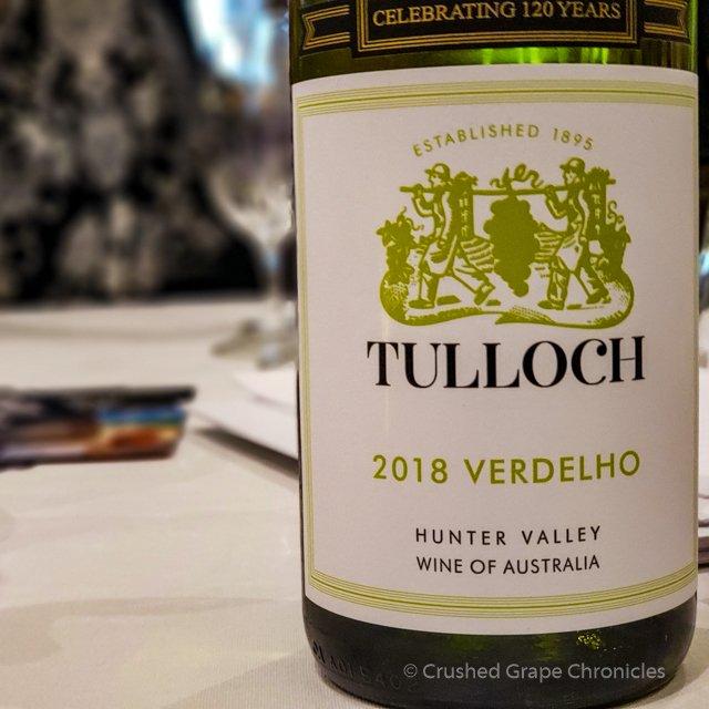 Tulloch 2018 Verdelho #wmc19 White/Rosé Wine Social