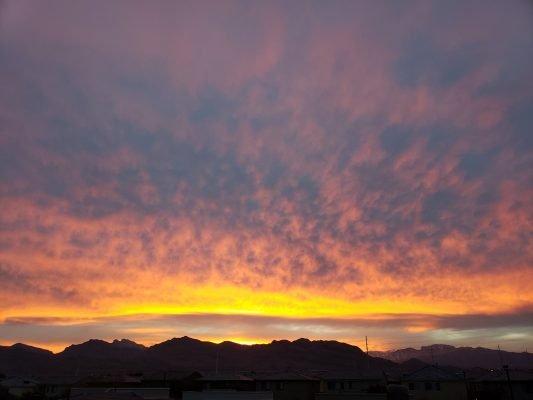 Sunset, my view
