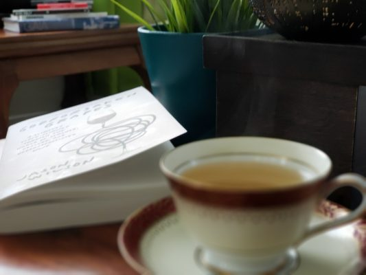 Godforsaken Grapes by Jason Wilson and a cup of tea