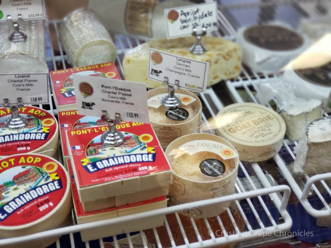 The cheese counter at Valley Cheese and Wine
